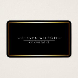 Or simple moderne professionnel noir élégant cartes de visite