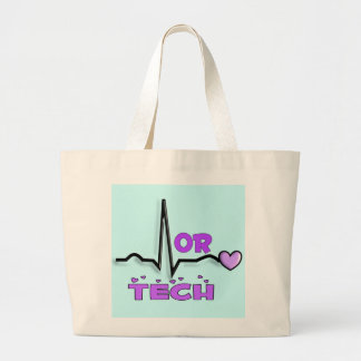 OR TECH Gifts--QRS Design Large Tote Bag