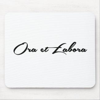 Ora et Labora Mouse Pad