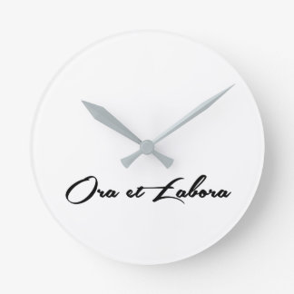 Ora et Labora Wall Clocks