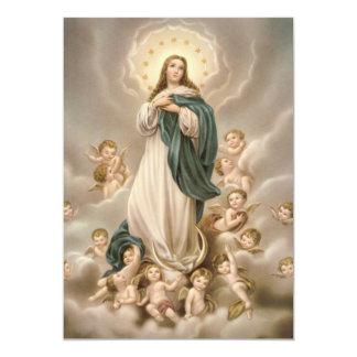 Oração un Nossa Senhora DA Conceição Carton D'invitation 12,7 Cm X 17,78 Cm