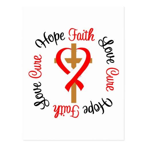 Oral Cancer Faith Hope Love Cross Postcards
