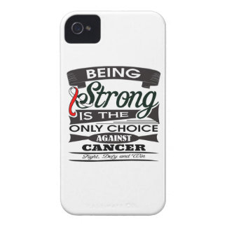 Oral Cancer Strong is The Only Choice iPhone 4 Case