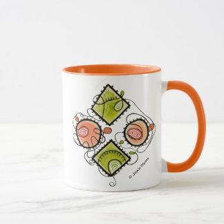 Orange 11 oz Combo Mug-Random Scribbles Mug