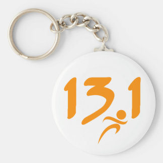 Orange 13.1 half-marathon keychain