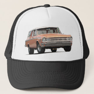 Orange 1964 Dodge Station Wagon Trucker Hat