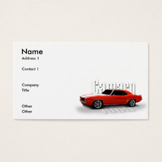orange 1969 business card