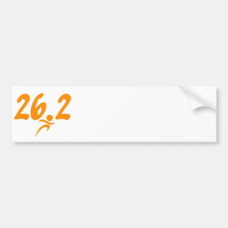 Orange 26.2 marathon bumper sticker