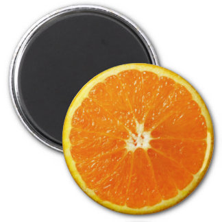 Orange 2 Inch Round Magnet