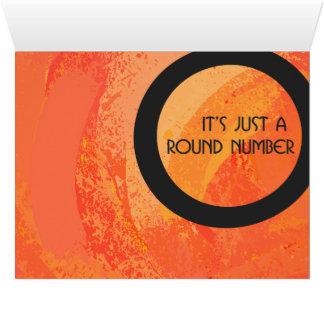 Orange 50 Decade Birthday Big Greeting Card