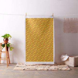 Orange 70's year styling squares fabric