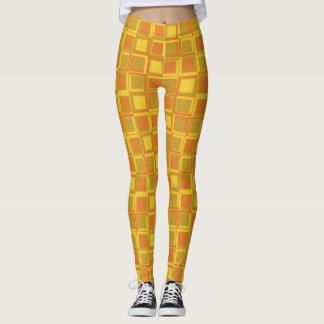 Orange 70's year styling squares leggings