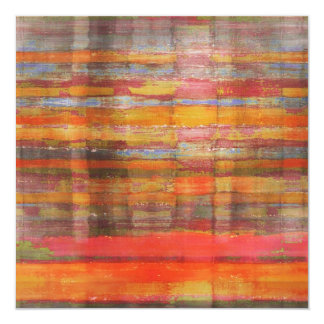 Orange Abstract Art Invitation Card