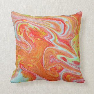 Orange Abstract Design Throw Pillow