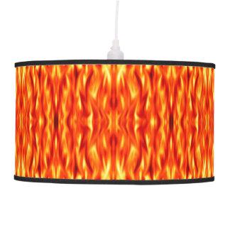 Orange Abstract Fire Pendant Lamp