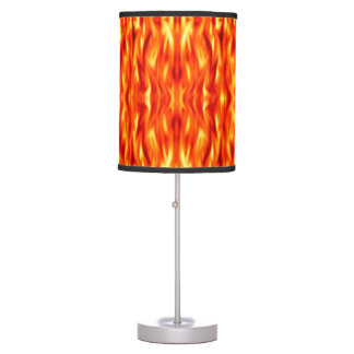 Orange Abstract Fire Table Lamp