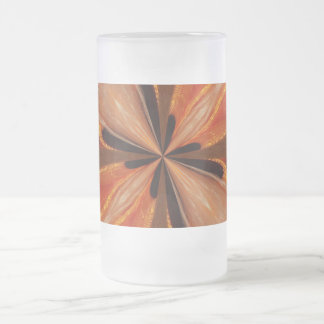 Orange Abstract Frosted Mug