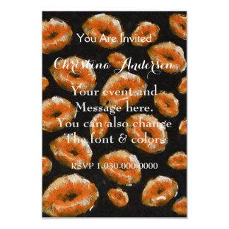 "Orange Abstract Lips 3.5"" X 5"" Invitation Card"