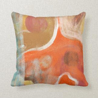 Orange Abstract Modern Art Pillows