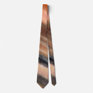 Orange Abstract Neck Tie