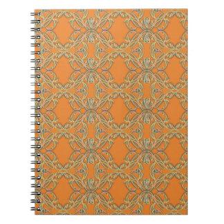Orange Abstract Pattern Journal