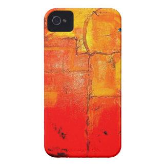 Orange Abstract  Unique Painting vibrant colors iPhone 4 Case