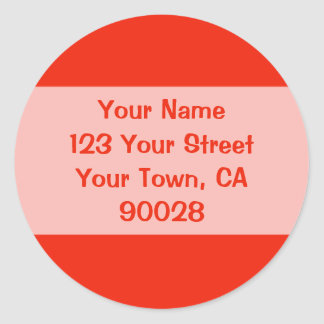 orange address labels
