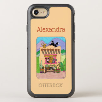Orange Adobe House & Many Cats Custom Name OtterBox Symmetry iPhone 8/7 Case