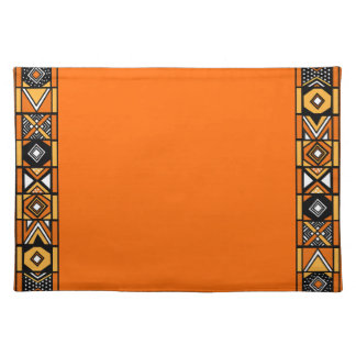 Orange African Art Placemat