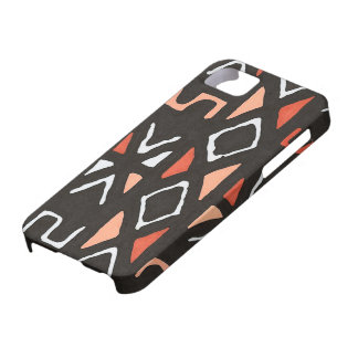 Orange African Mudcloth Tribal Print iPhone 5 Case