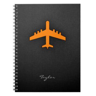 Orange Airplane Notebook