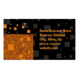 Orange alert float abstract Halloween black box Business Card Templates