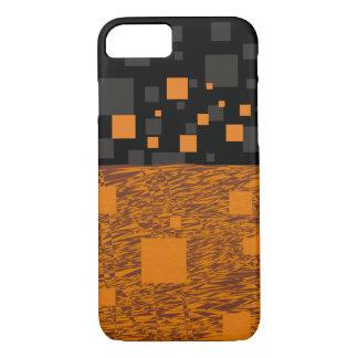 Orange alert float abstract Halloween black box iPhone 7 Case