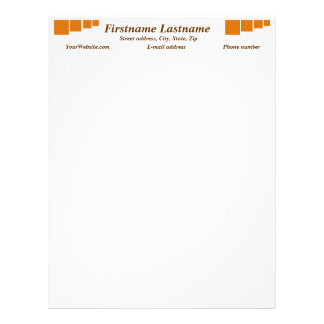 Orange alert float abstract Halloween black box Customized Letterhead