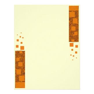 Orange alert float abstract Halloween black box Customized Letterhead