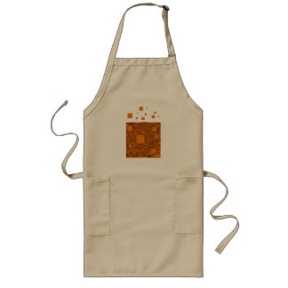 Orange alert float abstract Halloween black box Long Apron