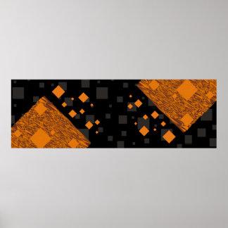Orange alert float abstract Halloween black box Poster