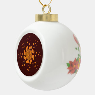 Orange alert Merry Christmas tree Noel Xmas ball Ceramic Ball Ornament