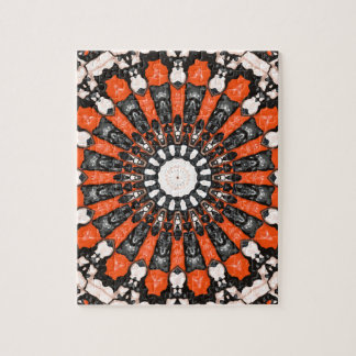 Orange And Black Abstract Jigsaw Puzzle