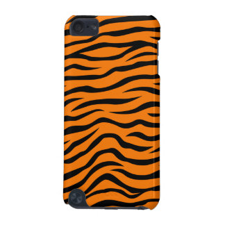 Orange and Black Animal Print Tiger Stripes iPod Touch (5th Generation) Cases