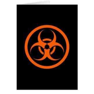 Orange and Black Bio Hazard Circle Cards