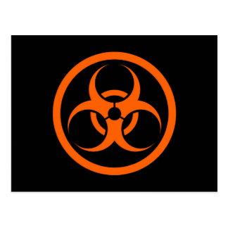Orange and Black Bio Hazard Circle Post Cards