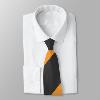 Orange and Black Broad Regimental Stripe Tie