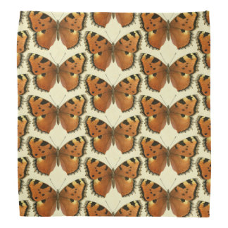 Orange and Black Butterflies Pattern Bandana