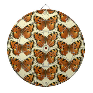 Orange and Black Butterflies Pattern Dartboard