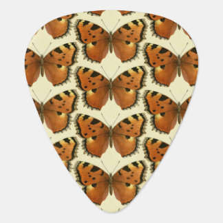 Orange and Black Butterflies Pattern Guitar Pick