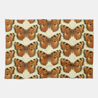 Orange and Black Butterflies Pattern Kitchen Towel