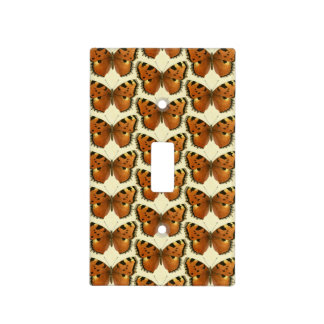 Orange and Black Butterflies Pattern Light Switch Cover