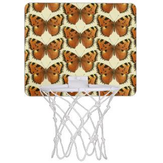 Orange and Black Butterflies Pattern Mini Basketball Hoop