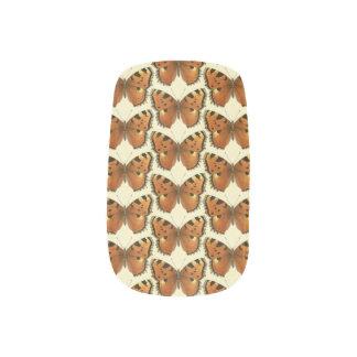 Orange and Black Butterflies Pattern Minx Nail Art